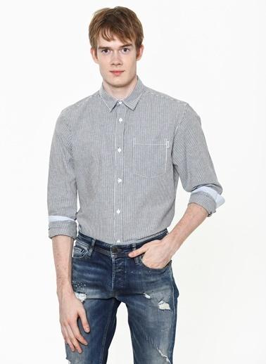 Çizgili Uzun Kollu Slim Fit Gömlek-Jack & Jones